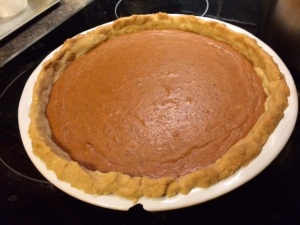 the penultimate pumpkin pie step