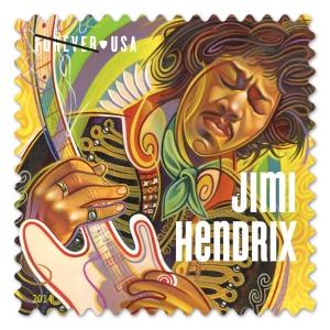 USPS Jimi Hendrix postage stamp