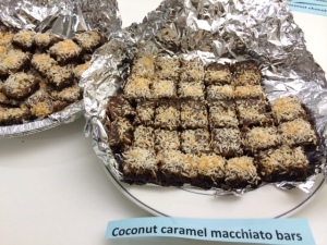 Gone in a flash! Coconut caramel macchiato bars